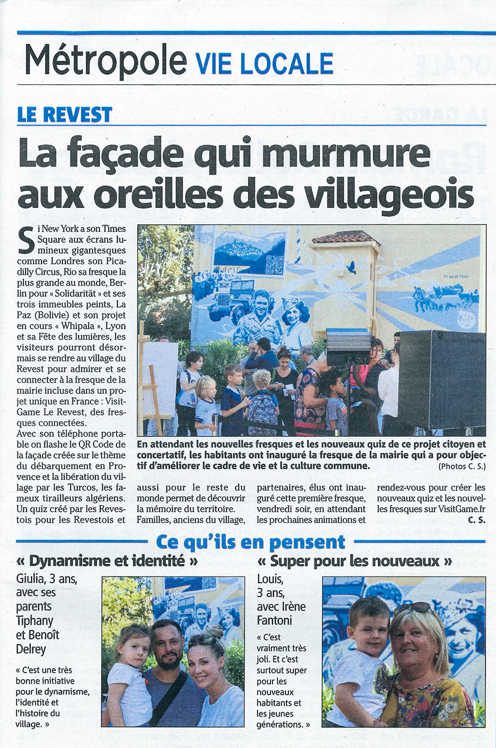 Agence communication Marketing territorial article Var matin presse locale inauguration événement