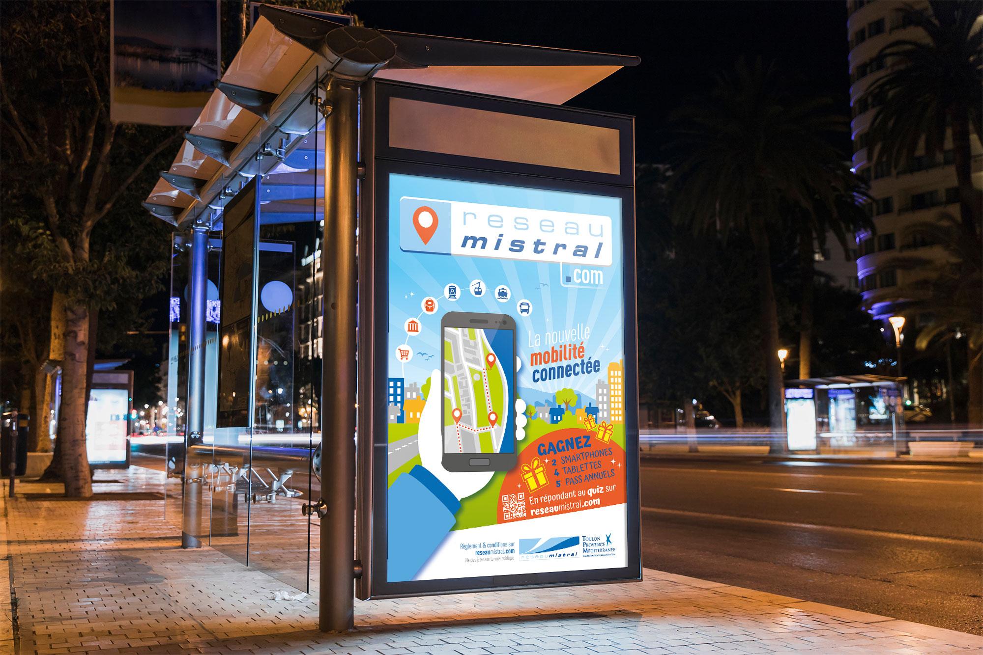 Agence communication service public à Toulon -toulon-comitup-impression-affiche-arret-bus-Var-83