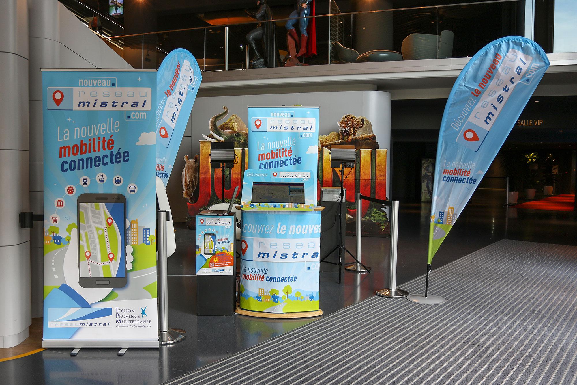 Agence de communication de service public à toulon Var 83 Hyères, La Seyne sur mer - Stand événementiel