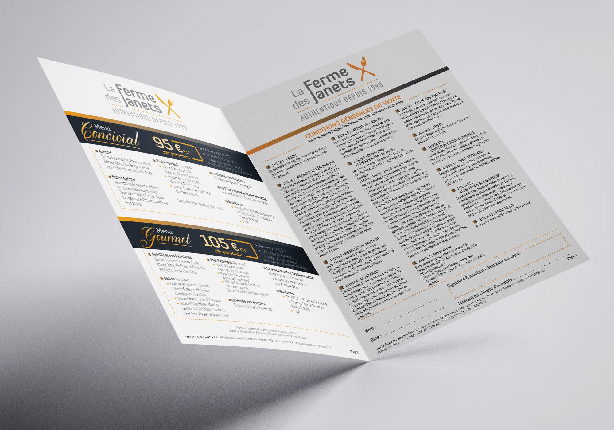 Agence-communication-restaurant-bormes-dépliant-mariage-contrat-impression-V1