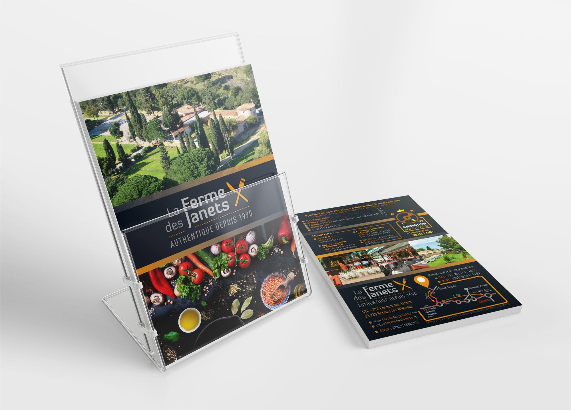 Agence-communication-restaurant-bormes-les-mimosas-Var-Flyer-impression-Toulon-mes