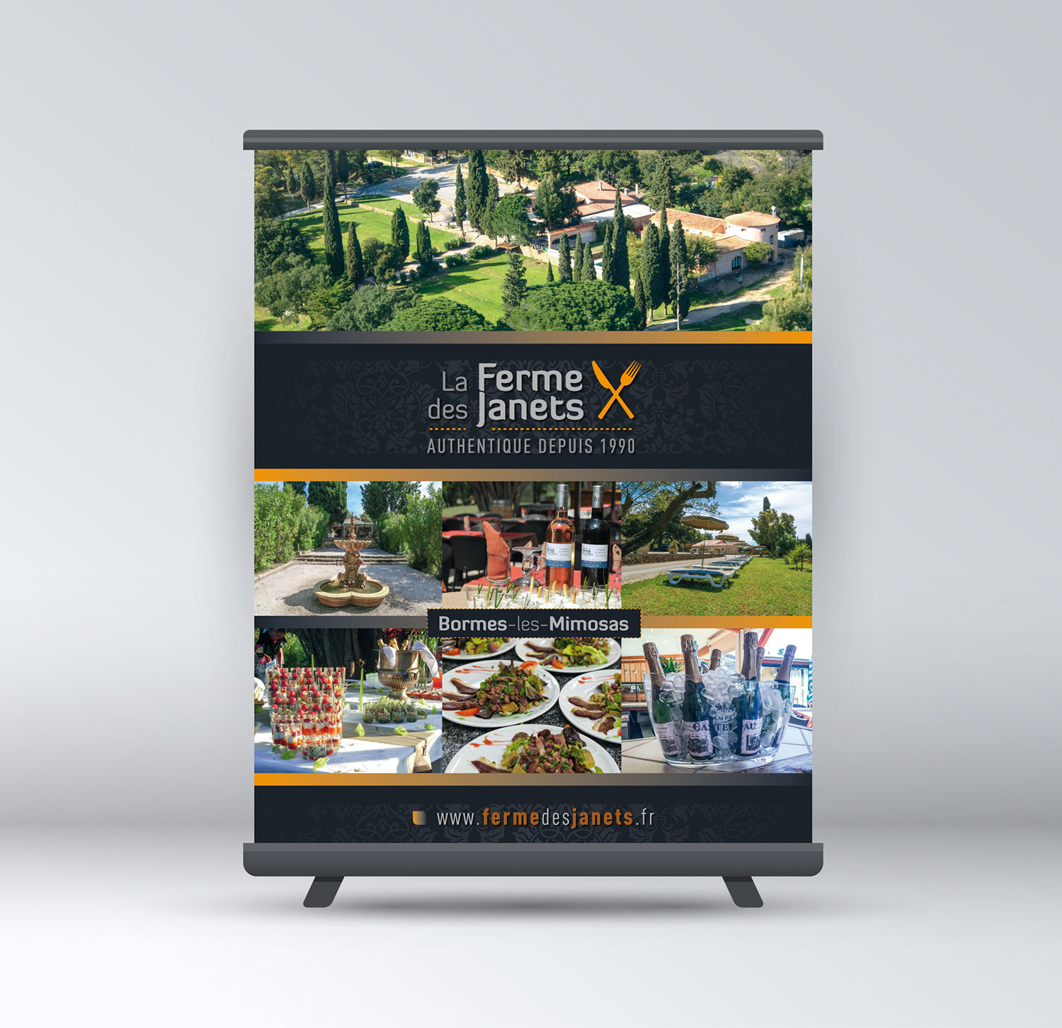 Agence-communication-restaurant-roll-up-stand-salon-impression-Toulon-Var-01